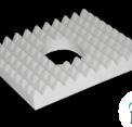 Materac przeciwodleżynowy 45x40x10cm z otworem w pokrowcu