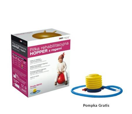 Piłka rehabilitacyjna HOPPER z rogami