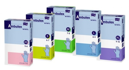 Rękawice nitrylowe niepudrowane AMBULEX
