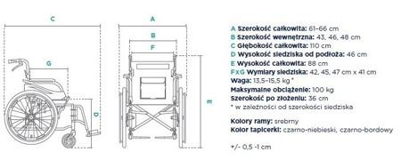 wózek inwalidzki aluminiowy Timago